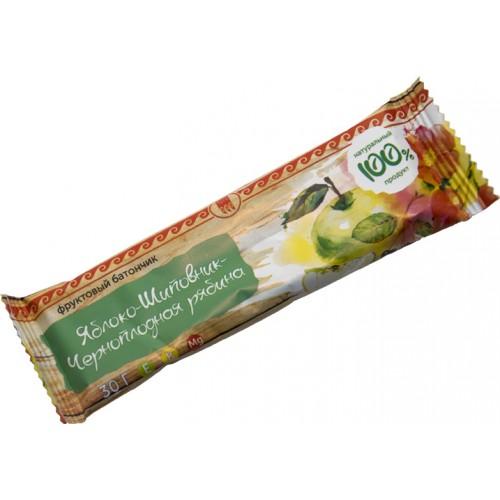 Батончик фруктовый Яблоко-шиповник-черноплодная рябина  argo-zakaz.ru