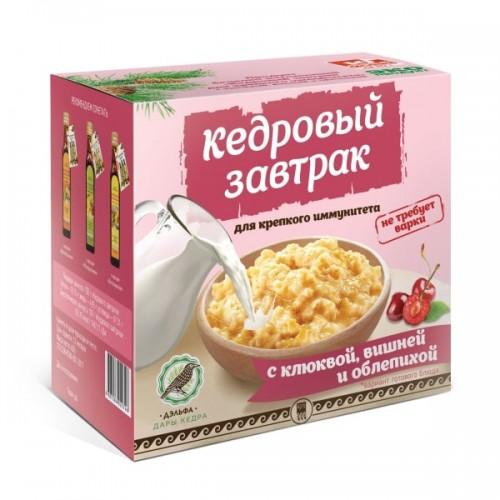 Завтрак кедровый для крепкого иммунитета с клюквой, вишней и облепихой  argo-zakaz.ru