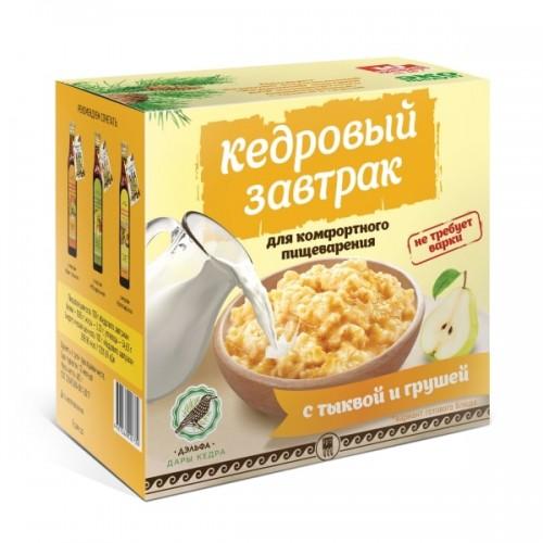 Завтрак кедровый для комфортного пищеварения с тыквой и грушей  argo-zakaz.ru