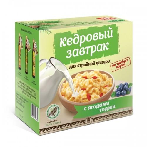 Завтрак кедровый для стройной фигуры с ягодами годжи