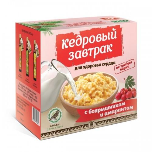 Завтрак кедровый для здоровья сердца с боярышником и амарантом  argo-zakaz.ru