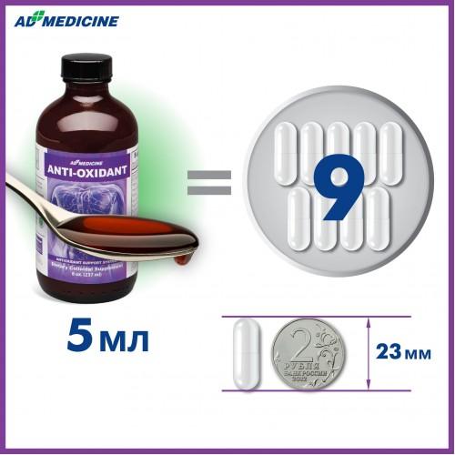 5 мл коллоидной фитоформулы Антиоксидант вместо 9 лекарственных капсул